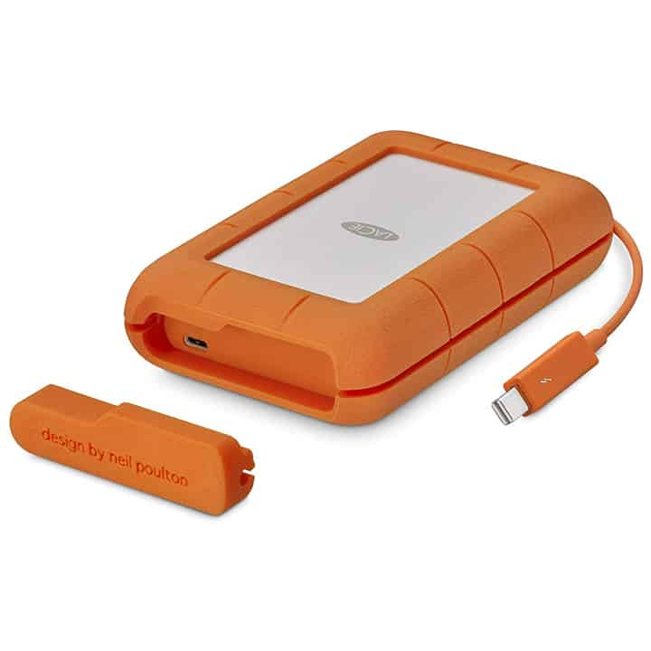 LaCie Rugged TB USB-C Portable Hard Drive